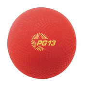 Multipurpose School Recess Playground Ball 13in Red