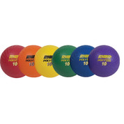 Durable Soft Rubber Playground Ball Set Muticolor 10in