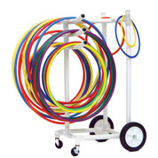 Portable Storage Cart for Plastic PE Hoops