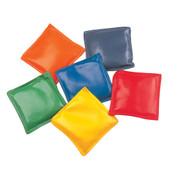 Multi-colored Vinyl Bean Bag Set of 12, 4-Inch