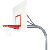 Bison Mega Duty Steel Rectangle Shape Backboard Basketball System