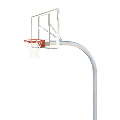 Bison Mega Duty Polycarbonate Clear Rectangle Shape Backboard Basketball System