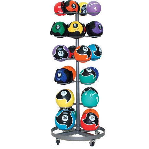 Mobile Medicine Ball Corner Storage Rack - Champion Sports Select