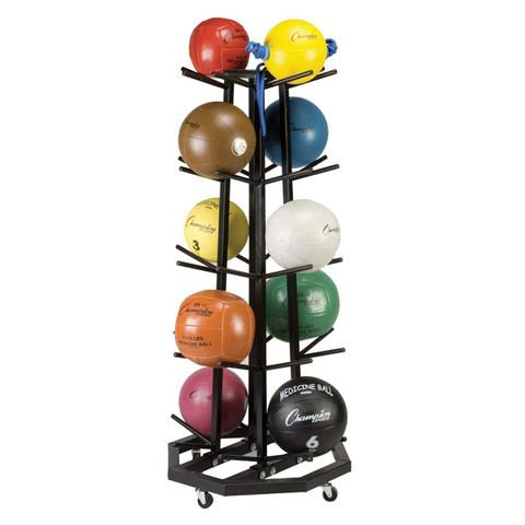 Deluxe Mobile Medicine Ball Storage Rack Tree