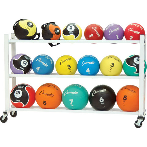 Large Steel Deluxe Medicine Ball Storage Cart