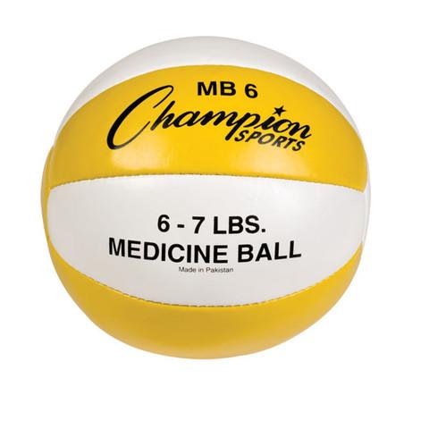 Heavy Duty Durable Leather Cross Training Medicine Ball 6-7lb