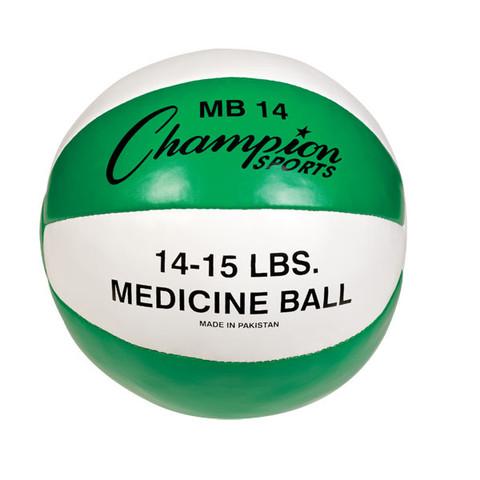 Heavy Duty Durable Leather Cross Training Medicine Ball 14-15lb