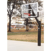 Bison Ultimate Clear Acrylic Rectangle Backboard Fixed Height Basketball System