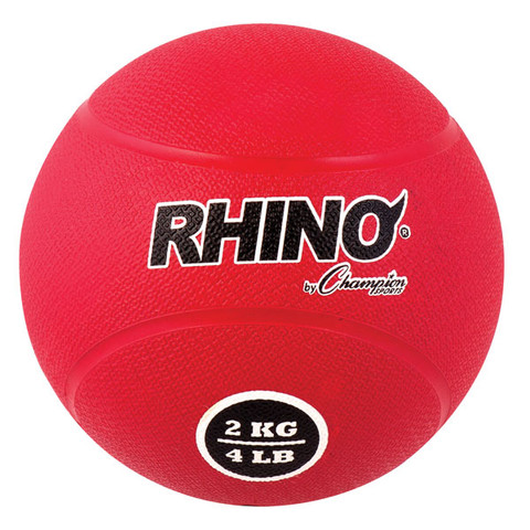 2kg Textured Rubber Exercise Medicine Ball