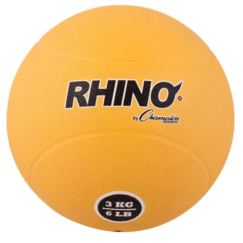 3kg Textured Rubber Exercise Medicine Ball