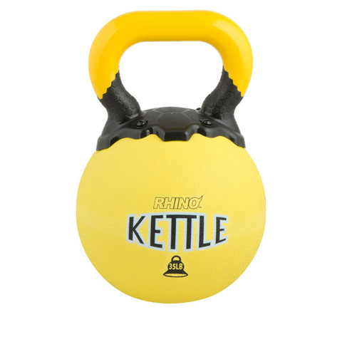 Rubber Exercise Kettle Bell 35lb Rhino� Yellow