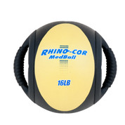 Dual Handle Medicine Ball 16lb Rhino-Cor� Yellow