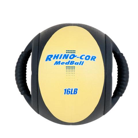 Dual Handle Medicine Ball 16lb Rhino-Cor� Yellow