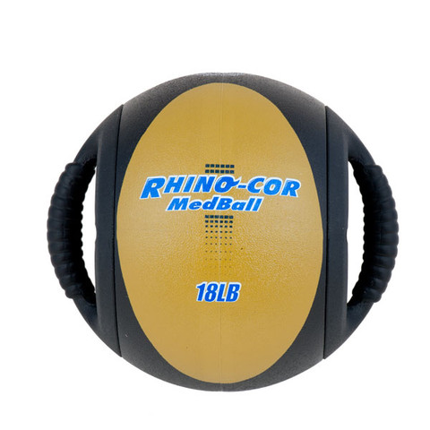 Dual Handle Medicine Ball 18lb Rhino-Cor� Tan