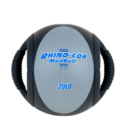 Dual Handle Medicine Ball 20lb Rhino-Cor� Gray