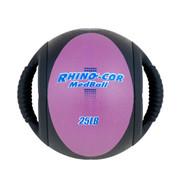 Dual Handle Medicine Ball 25lb Rhino-Cor� Purple