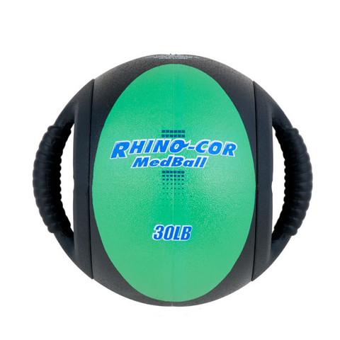 Dual Handle Medicine Ball 30lb Rhino-Cor� Green
