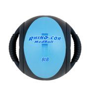 Dual Handle Medicine Ball 8lb Rhino-Cor� Teal