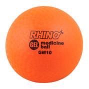 10lb Gel Filled Textured Sports Medicine Ball - Rhino