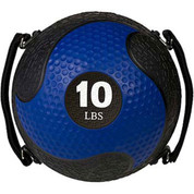 10lb Strength Exercise Medicine Ball Rhino Ultra Grip with Straps