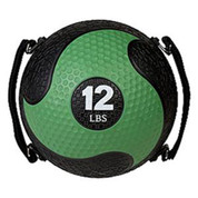 12lb Strength Exercise Medicine Ball Rhino Ultra Grip with Straps