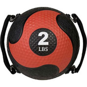 2lb Strength Exercise Medicine Ball Rhino Ultra Grip with Straps