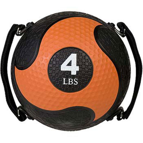 4lb Strength Exercise Medicine Ball Rhino Ultra Grip with Straps
