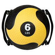 6lb Strength Exercise Medicine Ball Rhino Ultra Grip with Straps