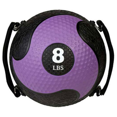 8lb Strength Exercise Medicine Ball Rhino Ultra Grip with Straps