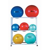 Mobile Wheeled Exercise Ball Storage Cart