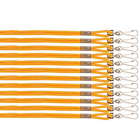 Gold Heavy Nylon Sports Lanyard