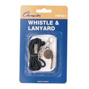 Metal Sports Whistle With Heavy Duty Nylon Lanyard