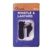 Plastic Sports Whistle With Nylon Lanyard