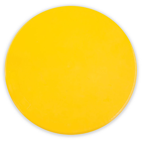 9-Inch Yellow Poly Spot Gym Marker for PE Games