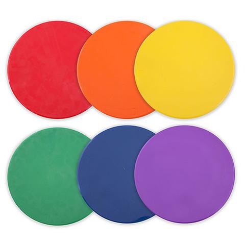 9-Inch Multi-Color Spot Floor Marker Set for Sports Games Drills