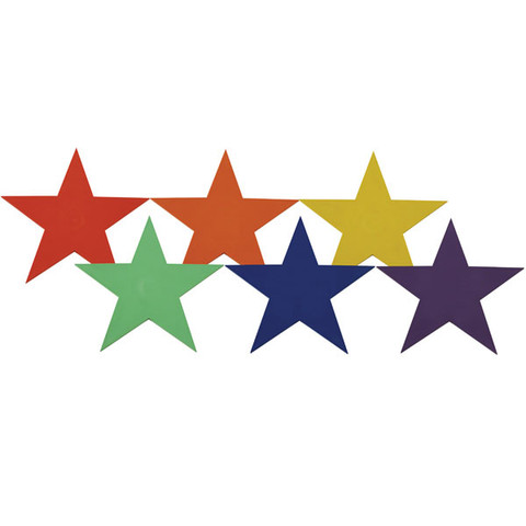 9-inch Multi-Color Star Marker Set Poly Vinyl for PE Games