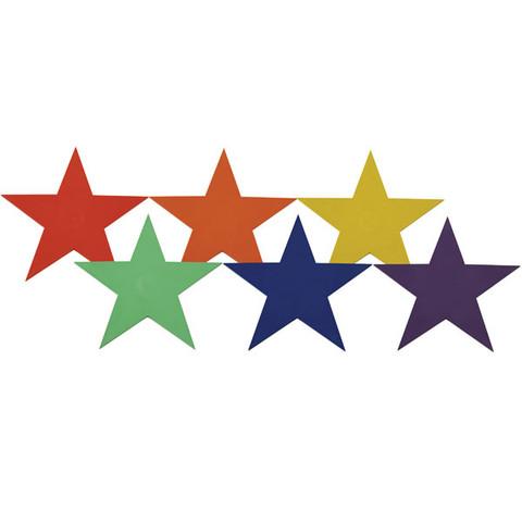 9-inch Multi-Color Star Marker Set Poly Vinyl for PE Games