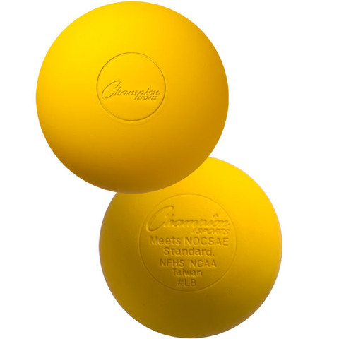 NOCSAE Yellow Official Lacrosse Ball - NCAA/NFHS Approved