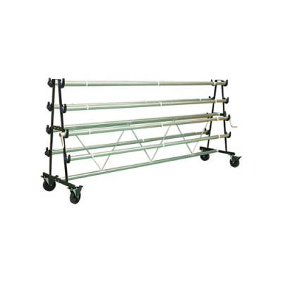 Gym Floor Cover Mobile Storage Racks - 8 Roller Model