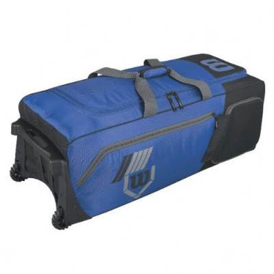 Wilson 2.0 Pudge baseball or softball equipment bag on wheels - royal blue