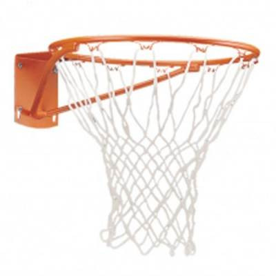 Basketball front mount rim and net .