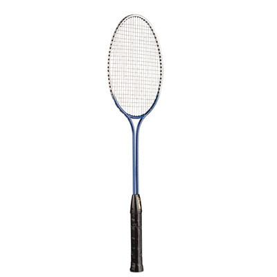 Junior Tempered Steel Twin Shaft Badminton Racket with Nylon Strings
