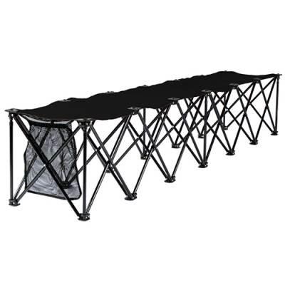 6 seat travel chair bench - Black