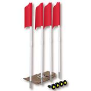 Soccer Spring Loaded Flag Set w/ Storage Bag (6 Flags)