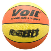 Women's Voit Lite 80 Orange and Yellow Rubber Basketball for Indoor or Outdoor Play