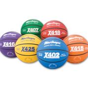 Green MacGregor Durable Rubber Indoor and Outdoor Basketball - Junior Size