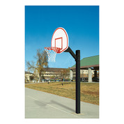 Bison Ultimate Jr. Fan Aluminum Fan Shape Backboard Breakaway Basketball System