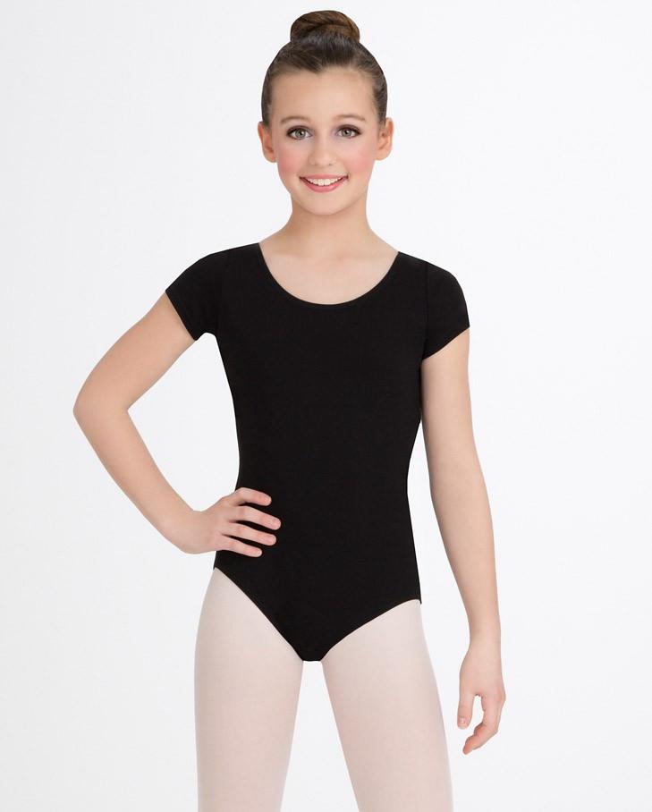 96bd93850 CC400C Child Short Sleeve Cotton Leotard - Capezio Dance Theatre ...