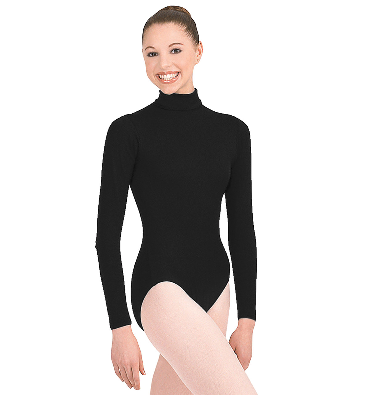 63335f56ea759 TB41 - Capezio Adult Turtleneck Long Sleeve Leotard - Capezio ...