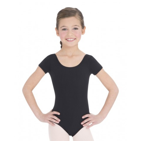 6c20149e9ee2 TB132C - Child Nylon Short Sleeve Leotard - Capezio Dance Theatre ...
